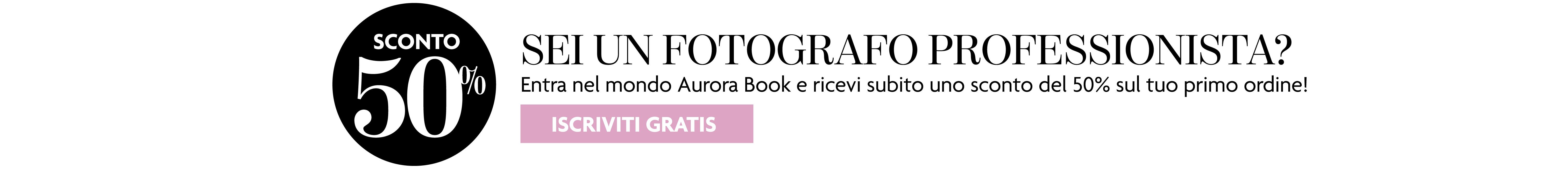 Sei un fotografo professionista? Registrati e avrai uno sconto
